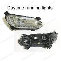 Waterproof Car DRL LED Daytime Running Light for H/yundai IX45 S/anta Fe one hole 2013-2015 top quality