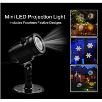 Outdoor Lighting Detachable/Flash/Steady Projector Light 14 Slides Detachable Projector Light LED Headlight Home Light