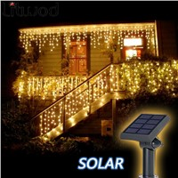 Litwod z30 Solar Lamps Outdoor lighting 50 Beads 7 Meters String LED Starry Light Rope patio Decor Fairy Icicle Lighting