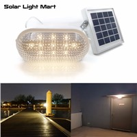 2017 New RIZE 120X Outdoor Indoor Waterproof Auto 3 Power Modes Solar Powered LED Shed Light Kit Warm White