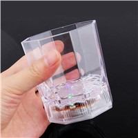 Wireless Smart LED Bulb RGB water induction Wine Glass USB Charging Night Light Cup Lamp Octagonal Plastic Wine Glass