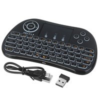 Free DHL 50pcs/lots P9-L Handheld Wireless Mini Keyboard Air Mouse with Backlight Function Touchpad(led light)