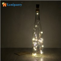 LumiParty 2M Cork Shaped Bottle Stopper Lamp Glass Wine Silver Copper Wire String Lighting Christmas Party Wedding Decoration