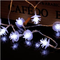 2m 20LED string light Pine nuts decoration new year festival party home playground decoration LED light battery powered