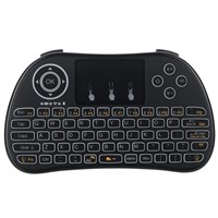 Free DHL 20pcs/lots P9-L Handheld Wireless Mini Keyboard Air Mouse with Backlight Function Touchpad(led light)