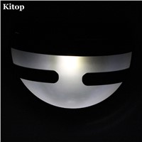 Kitop 2pcs/lot Semicircle Solar Fence Lights Wall Mount led Lamp White Warm white for Garden Yard Patio Gate Entrance