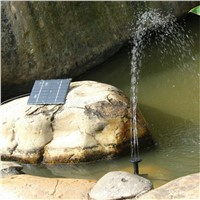 LumiParty Solar Powered Fountain Water Pump, 1.2W 7V Energy-Saving Submersible Solar Water Pumps for Garden Pond Pool