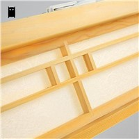 LED Wood Square Tatami Ceiling Light Fixture Japanese Korean Style Plafon Plafonier Lamp for Foyer Balcony Bedroom Living Room