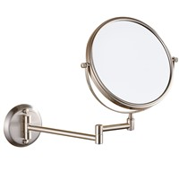 Gurun 6 Inch 3/5/7X Led Suction Cup Mirror Makeup 2 Side Cosmetic Mirror Lights Compact Of Glass Hand bathroom wall MirrorM1306N