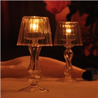 1Pc New Hot Crystal Antique Glass Vintage Tea Light Candle Holder Candle Decoration Accessories High