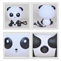 US/EU Plug Night Sleeping Lamp Baby Room Panda/Rabbit/Dog/Bear Cartoon Light Kids Bed Lamp for Gifts