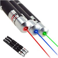 Green Red Blue Laser Pointer Pen Visible Beam Light Lazer 532NM-405NM 5mw Beam Ray Laser Pointer Instructor Pen Flashlight P0.11