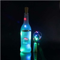 15 LEDs Copper Wire String Light with Bottle Stopper for Glass Craft Party Valentines Wedding Decoration Lamp --M25