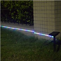 Waterproof IP65 DC3V Solar Panel Power 8 Modes TV Strip Band Pink+Green+Blue 3M 90SMD3528 Strip Light For Outdoor/Indoor Decor