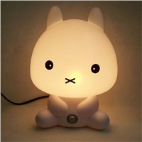 LED Desk Night Lights Panda/Rabbit/Dog/Bear Cartoon Baby Room Nightlights Kids Bed Lamp SleepingTable Night Lamp Luminaria