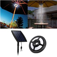 36 LEDs Portable Patio Umbrella Light 2.5W 6V Solar Panel and USB Rechargeable Lamp for Garden Camping Tent Outdoor Use