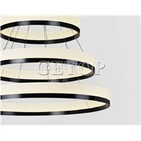 Best Price Modern Three Rings (11.8 - 19.7 - 27.6 Inches) Ceiling Lamp Fixture LED Lighting Acrylic Circular Chandelier Lights
