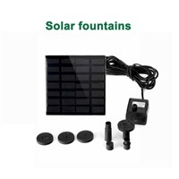 LumiParty LED Solar Powered Fountain Pump 7V Energy-Saving Submersible Solar Water Pumps For Garden Pond
