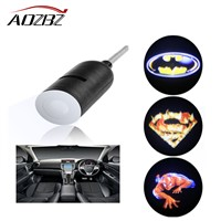 AOZBZ 3D Shadow Light LED Car Interior Projector Lamp With Car Charger For Batman For Superman For Spider Man Logo High Quality