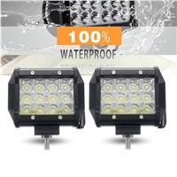 IKVVT 2pcs 5inch 36W LED Car Work Light Bar Flood Beam Off Road SUV Fog Driving Lamp