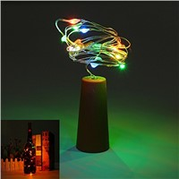 2pcs 2m 20-LED String Lights with Bottle Stopper for Glass Craft Bottle Fairy Valentines Wedding Decoration Lamp Party