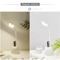 Pen Container LED Desk Lamp Touch Reading Night Light Rechargeable Modern Bedroom Bedside Fashion Table Lamp