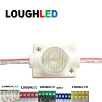 High Power Injection LED Module DC12V 1.5W  IP65 with Lens 45*15 for Double Sides Lighting Box White Red Green Blue Yellow