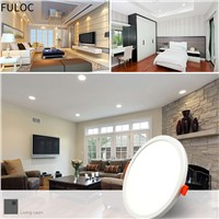 FULOC Ultra Thin LED Panel Downlight 8W 15W 20W 30W Square/round Recessed Light Indoor Lighting LED lamp on the ceiling Fixtures