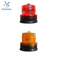 Outdoor Portable Solar Flash Warning Light Pathway Traffic Light  Red