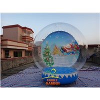 3m Inflatable Christmas Bubble Tent House Dome Outdoor Clear Snowball With Air Blower And Pump