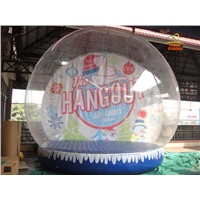 6m Inflatable Transparent Christmas Bubble Tent House Dome Outdoor Clear Snowball With Air Blower And Pump