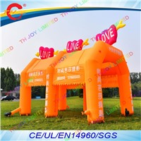 free air shipping to door,7x4x4mh advertise inflatable arch tent shelter canopy,inflatable event display exhibition tent cover