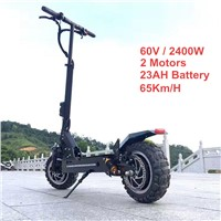 FLJ 11inch Off Road Electric Scooter 60V 2400W 65Km/h Strong powerful new Foldable Electric Bicycle bike motorcycle scooters