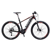 "SAVA Electric Bike Carbon Fiber ebike 27.5"" Bicycle Mountain bike velo electrique Shimano 20 speeds SAMSUNG Li Battery powerful"