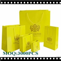 Made in China Yellow Color Paper Bag With Handles