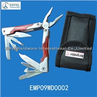 Small size Multi Tool with wood handle/closed size 6.8cm L(EMP09WD0002)