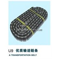 Transport belt for glass machine