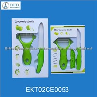 Ceramic Knife Set(knife and peeler) in window color box (EKT02CE0053)