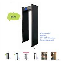 Saful TS-WD800 High sensitivity 8 zones metal detector door with pillar lamp LCD display