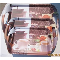 Melamine  bread  tray with handle