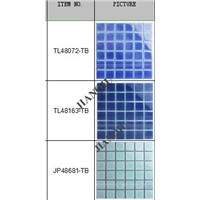 glazed kiln change pattern for swimming pool mosaic tile blue with cheap price