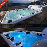 Hot sale Luxury Balboa system Massage swim spa for 12 persons swim spa