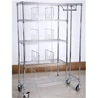 Chrome-plated Wire Shelf with Dividers
