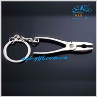 3d custom shaped metal key holder keychain