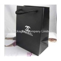 luxury paper shopping bag for apparel packaging wholesale