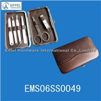 High quality 6PCS manicure set in leather case (EMS06SS0049)
