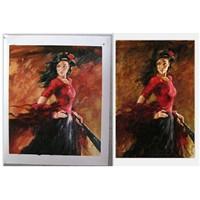 Flamenco Dancer Oil Painting