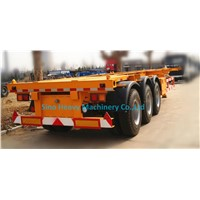 SHMC 3 AXLES 60T SKELETON TRAILER To transport Container box 13000X2500X1650mm  STRONG FRAME