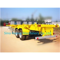 SHMC 3 AXLES SKELETON CONTAINER SEMI-TRAILER With FUWA BRAND AXLE  Q235 Steel  MATERIAL (Hot sales)