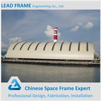 Prefabricated Power Plant Barrel Steel Structure Vault Coal Storage Warehouse